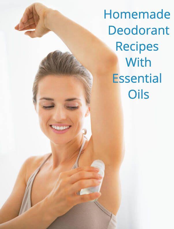 Woman Using Deodorant | Aromatherapy Homemade Deodorant Recipes With Essential Oils
