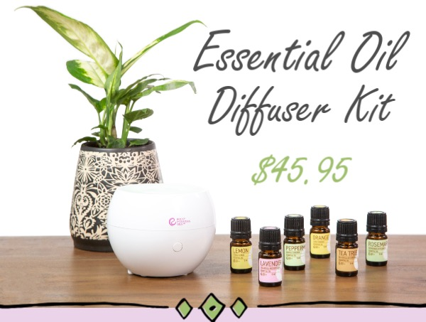 Essential Oils and Diffuser from Rocky Mountain Oils | Click to Buy this Diffuser Kit