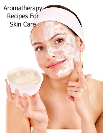 Woman Cleaning Face Using Aromatherapy Recipes for Skin Care