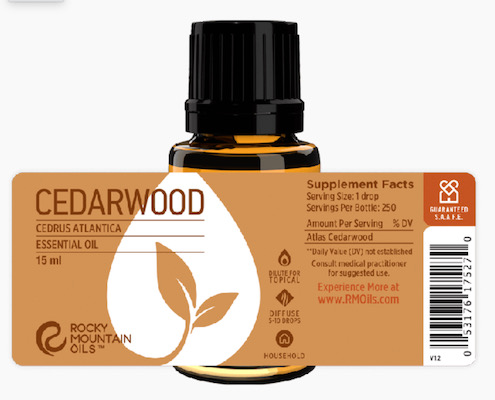 Buy Rocky Mountain Cedarwood Essential Oil