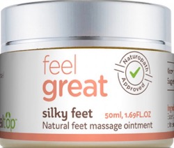 Natural foot massage cream