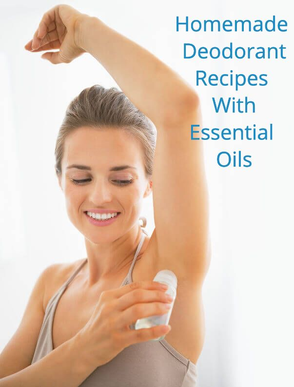 Woman Using Deodorant | Aromatherapy Homemade Deodorant Recipes With Essential Oils