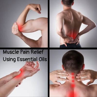 Man with painful spots on body   Muscle Pain Relief Using Essential Oils
