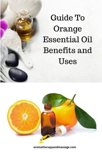 Guide To Orange Essential Oil and Its Benefits and Uses In Aromatherapy (with photo of oranges and essential oil supplies)