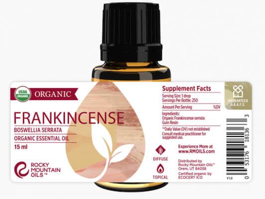 Buy Rock Mountain Organic Frankincense serrata Essential Oil