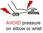 Avoid pressure on wrist