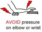 Avoid pressure on wrist