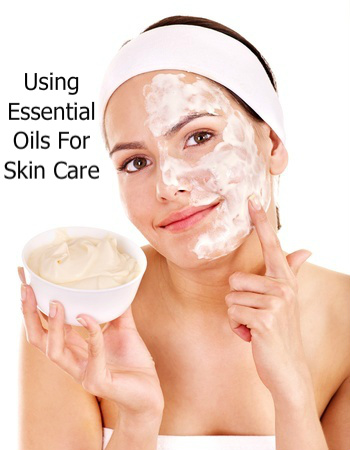 Woman Cleaning Face Using Cream Containing Skin Care Essential Oils