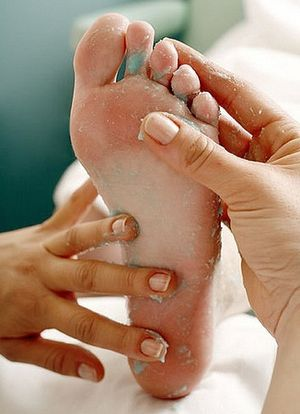 Foot Receiving Homemade Foot Scrub