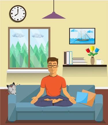 Man Meditating | Spiritual Aromatherapy